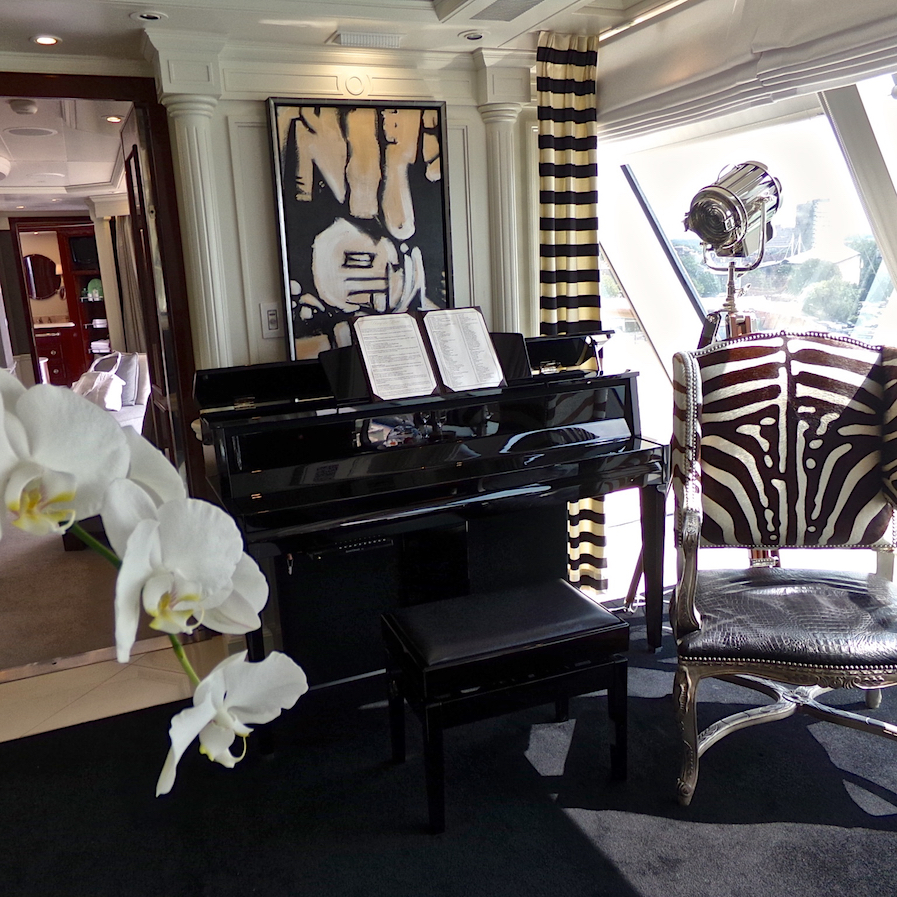 Owners Suite with Ralph Lauren Home Furnishings onboard Oceania Marina