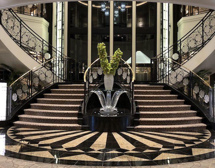 The Grand Staircase onboard Oceania Marina