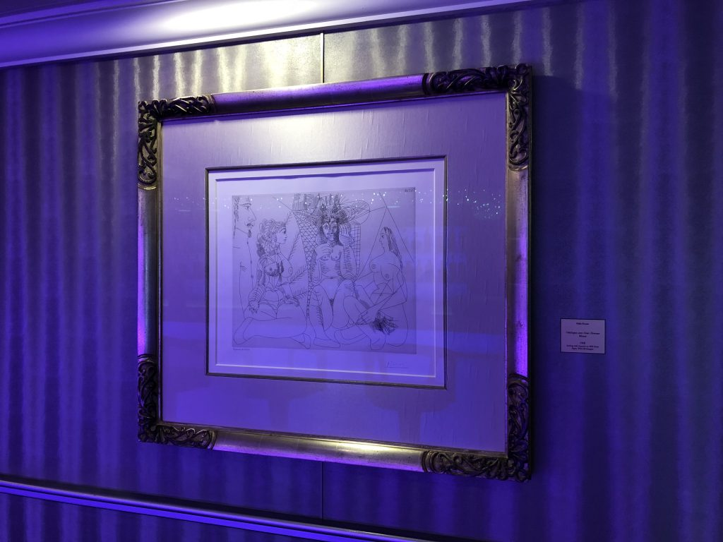 One of the Picasso Sketches onboard Oceania Marina