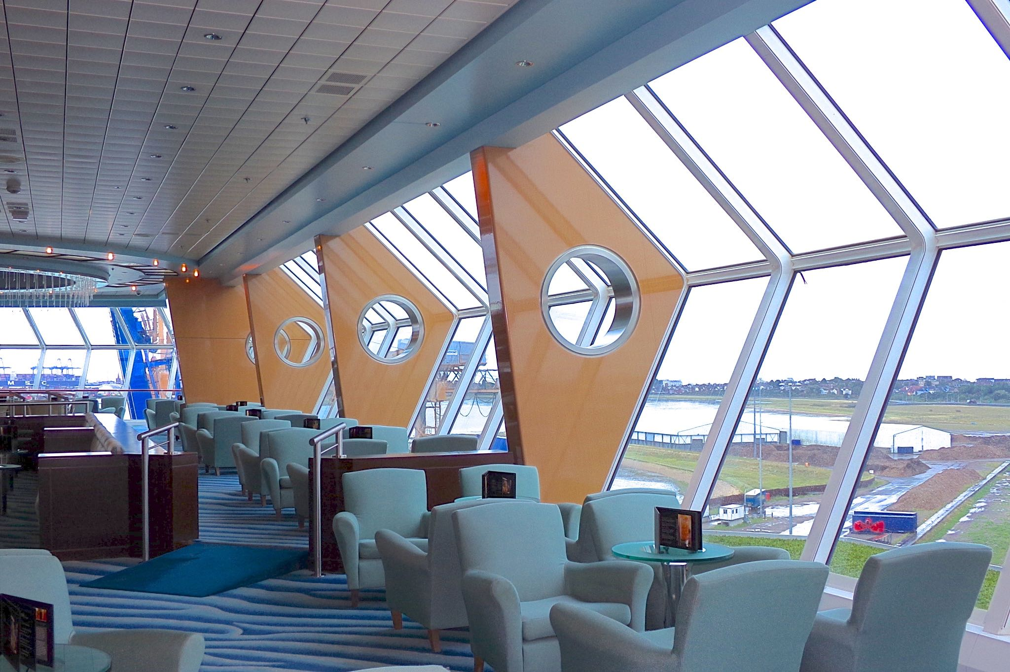 Celebrity Infinity Cosmos Lounge Luxury Cruise Flavia Gray