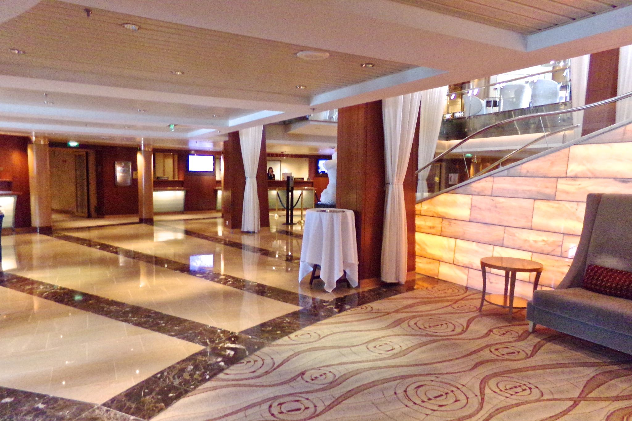 Celebrity Millennium Grand Foyer Luxury Cruise Flavia Gray