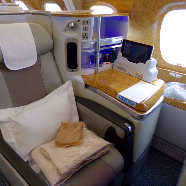 Emirates Business Class A380 Flavia Gray Luxury