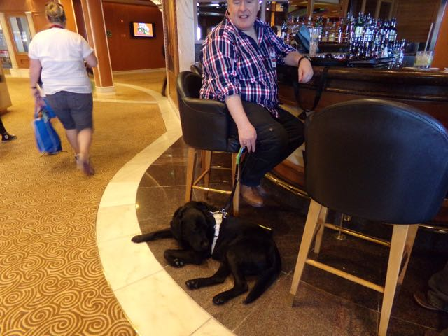 Bruno the Guide Dog Flavia Gray GoCruise Cruise Expert Princess Cruises