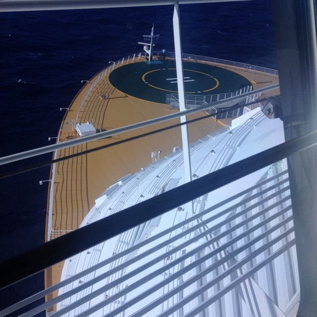 Looking over the helipad from the Bridge on the Allure of the Seas