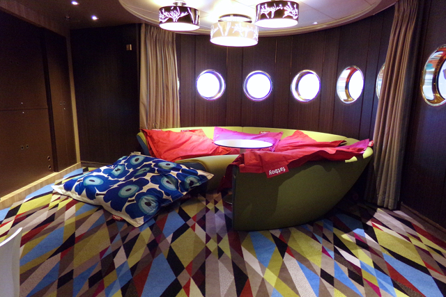 Crystal Cruises Teen Club Waves onboard Luxury Cruise Ship Crystal Symphony