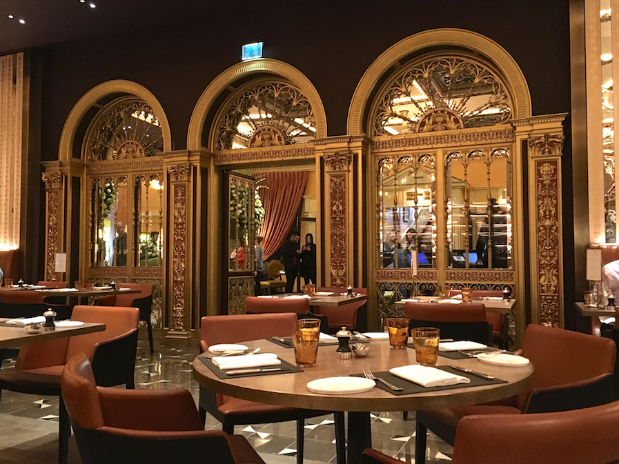 Grade II listed gold doors at The Dorchester Grill Room