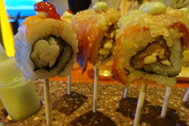 Taster Cruise onboard Celebrity Eclipse Sushi Lollipops