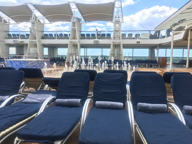 Taster Cruise onboard Celebrity Eclipse watching the water fountains
