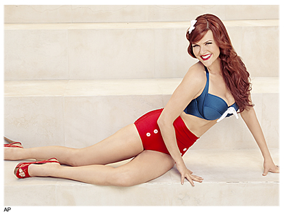 Sara Rue in cute bikini