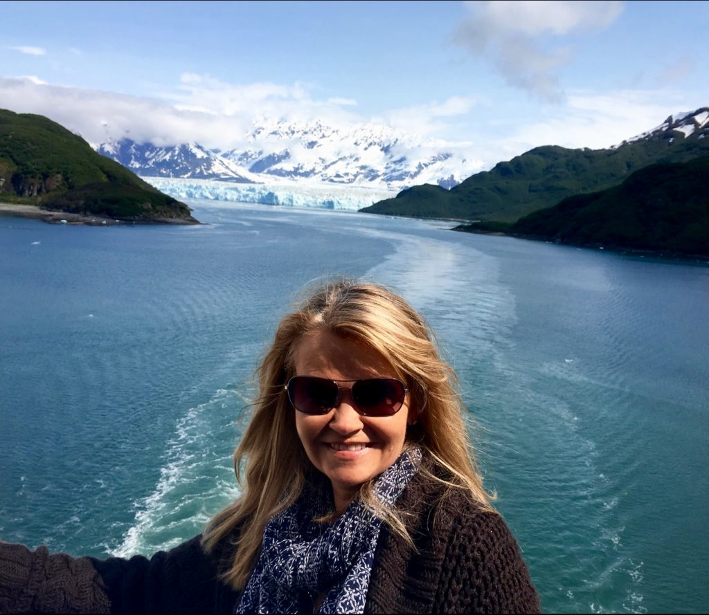Sailing away from the Hubbard Glacier onboard Celebrity Infinity