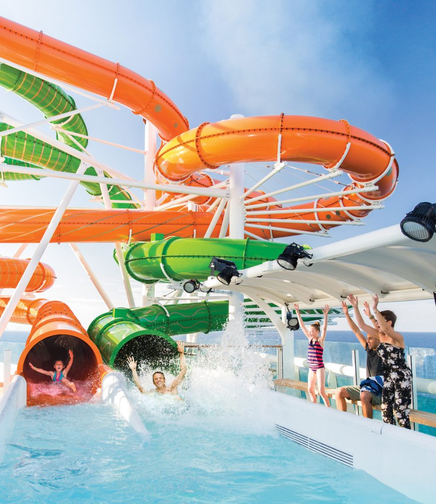 Independence of the Seas Refit Waterslides