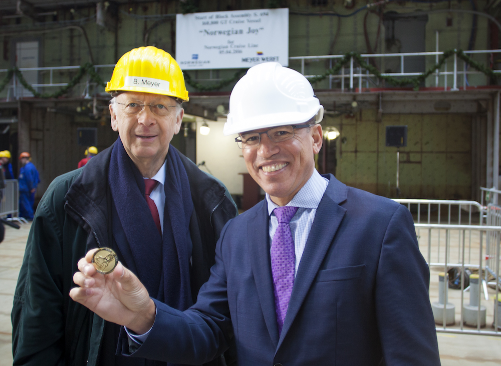 Keel Laying Coin Ceremony