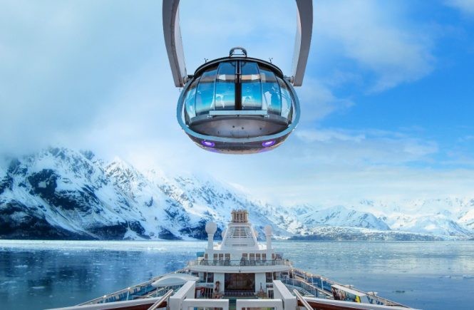 Royal Caribbean's North Star views of Alaska