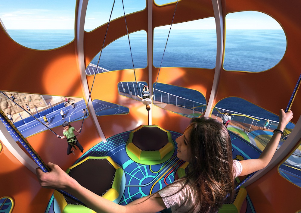 Independence of the Seas will be fitted with the SkyPad virtual reality bungee trampoline