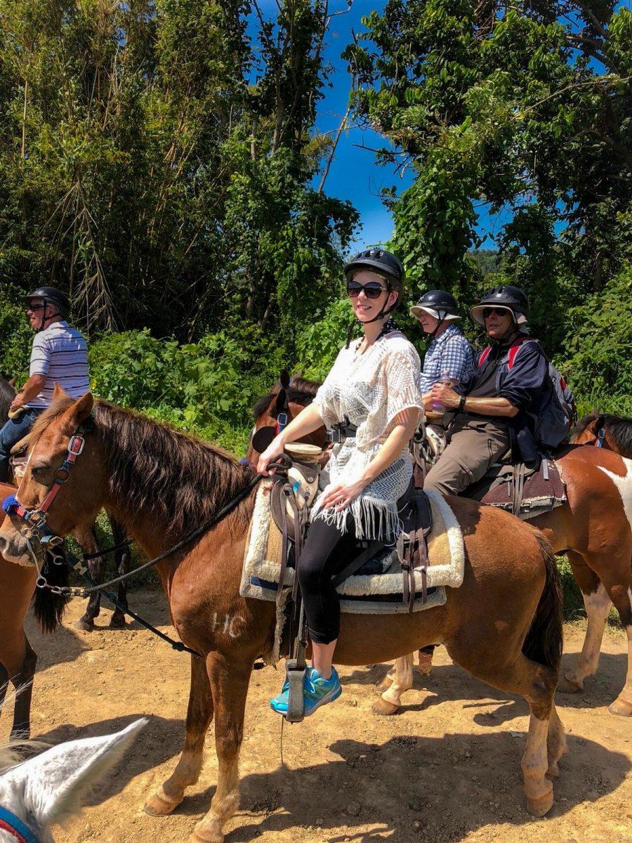 Horseriding in Carabali Rainforest Park Puerto Rico