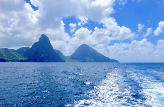 Pitons St Lucia Flavia Gray Ships and Champagne Viking Sea