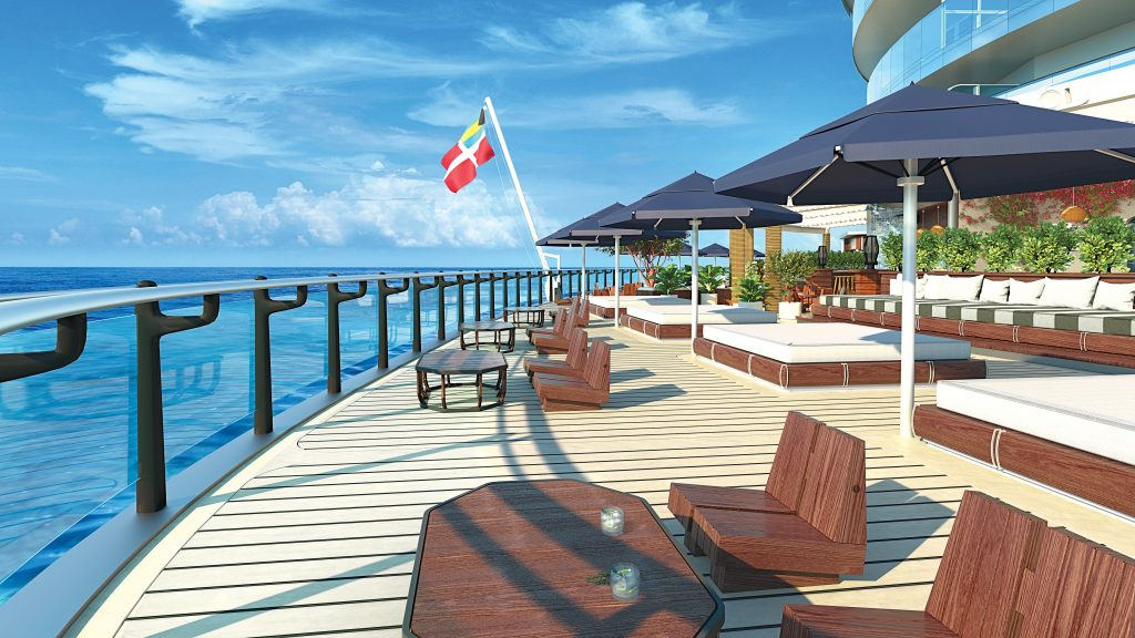 Image Credit: Virgin Voyages - The Dock designed by Roman and Williams