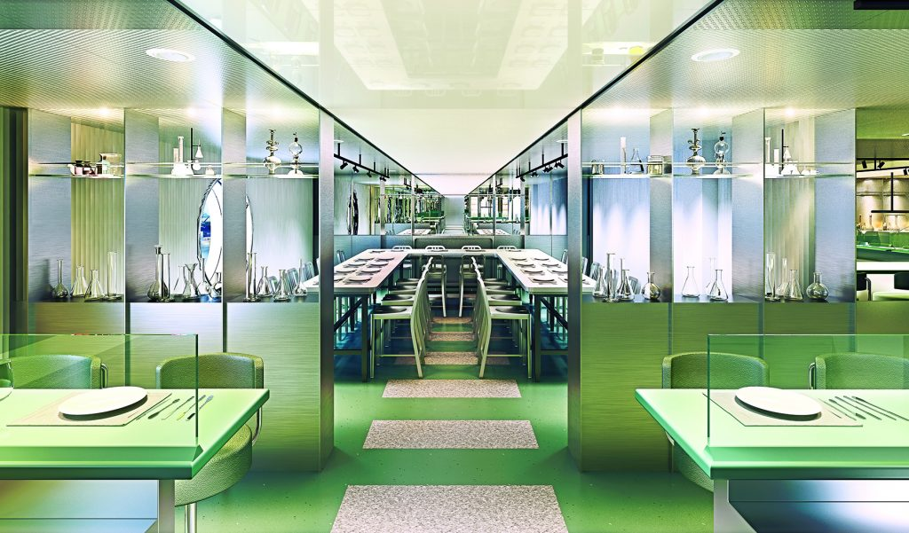 Image Credit: Virgin Voyages - The Test Kitchen designed by Concrete Amsterdam