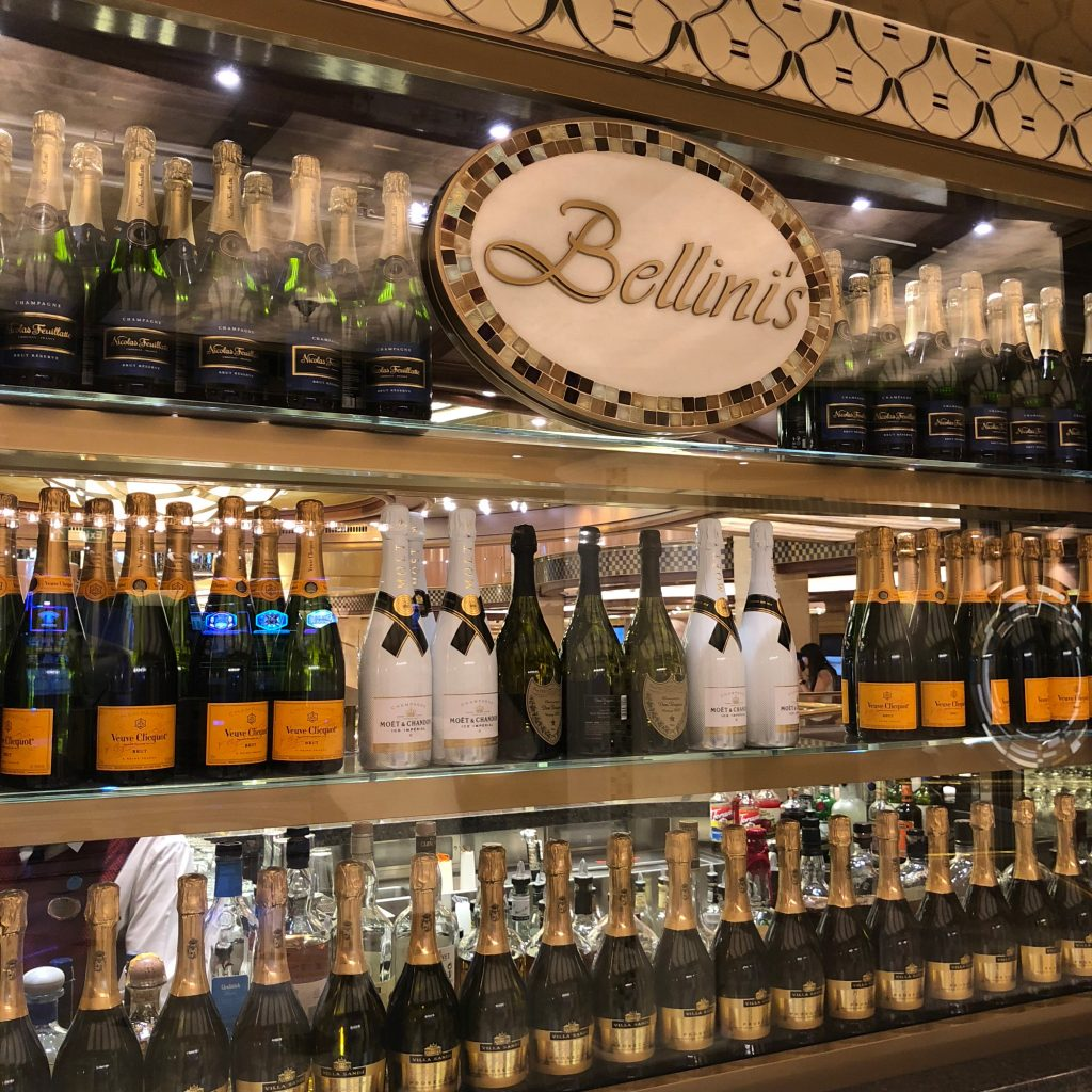 Bellini's Champagne Bar onboard Royal Princess