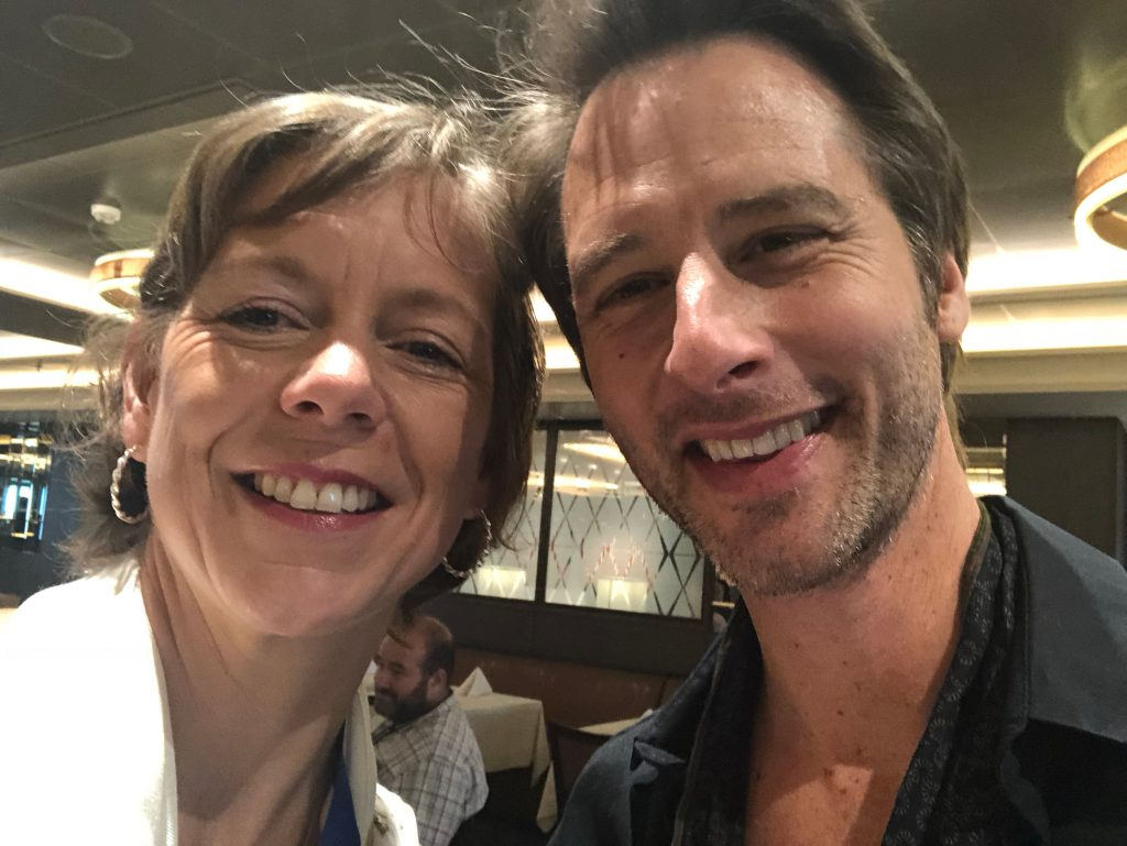 Flavia Gray and Chesney Hawkes onboard Britannia