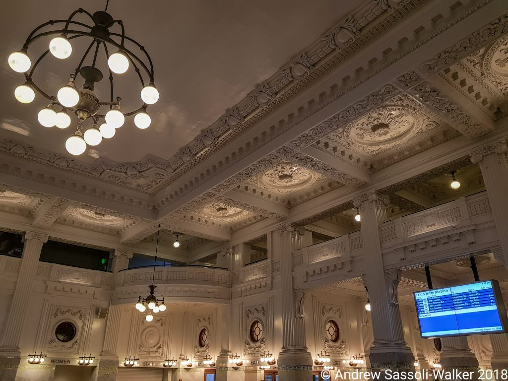 Photo Credit: Andrew Sassoli-Walker - Amtrak, King Street Station, Seattle.