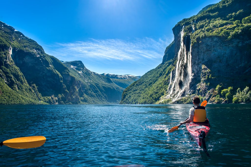 Geirangerfjord with Seven Sisters Waterfall Norway