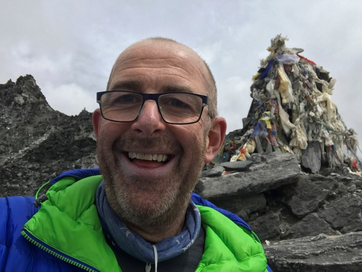 Michael English at Everest Base Camp