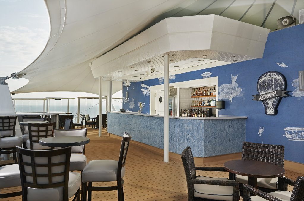 Photo Credit: Norwegian Cruise Line - Sky High Bar onboard Norwegian Star