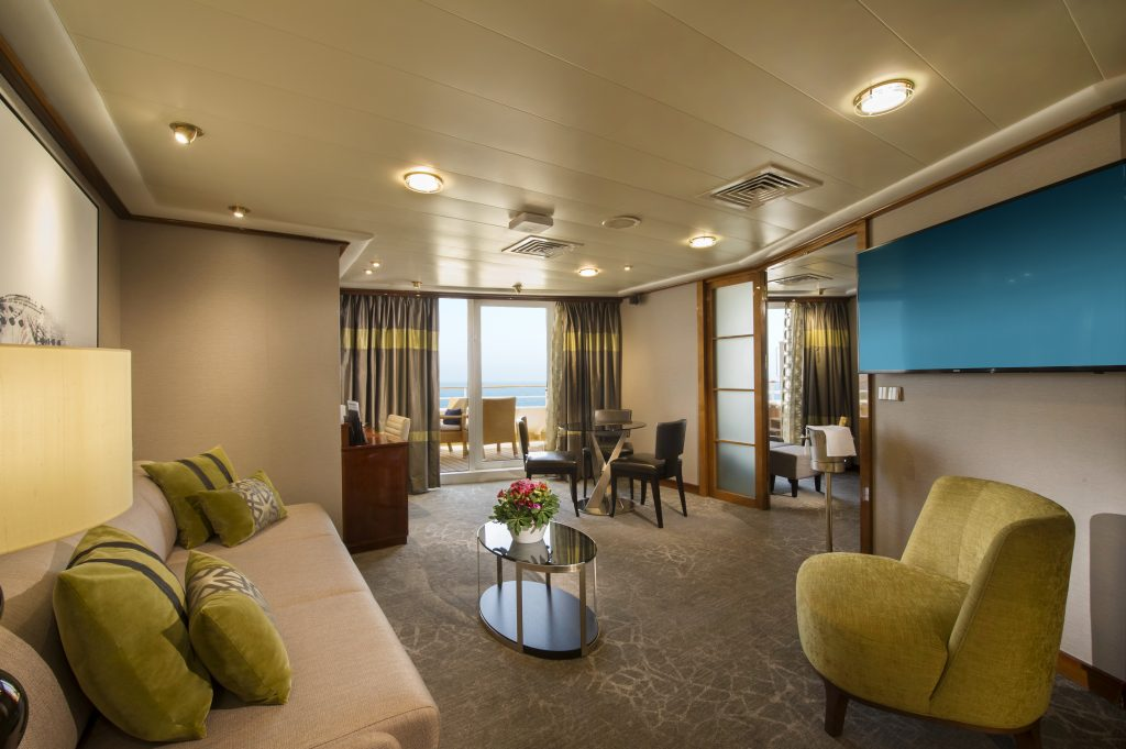 Photo Credit: Norwegian Cruise Line - Owners Suite Living Room onboard Norwegian Sun