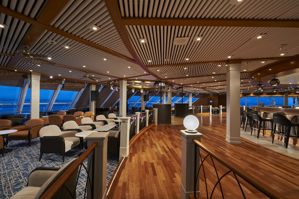Photo Credit: Norwegian Cruise Line - Spinnaker Lounge onboard Norwegian Sun