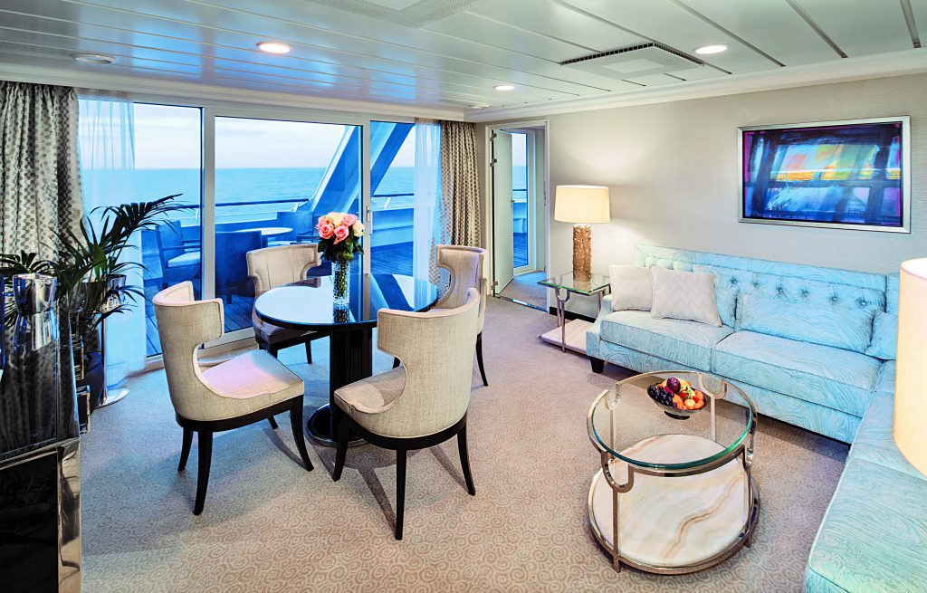 Photo Credit: Oceania Cruises - Sirena Owners Suite Living Room #6008