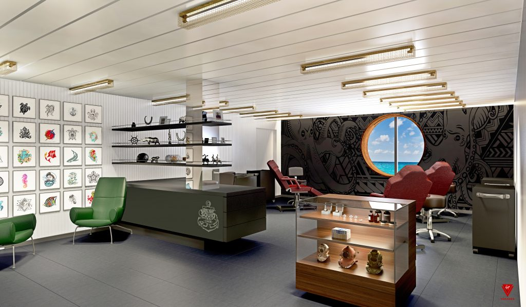 Virgin Voyages - Squid Ink Tattoo Parlour onboard Scarlet Lady