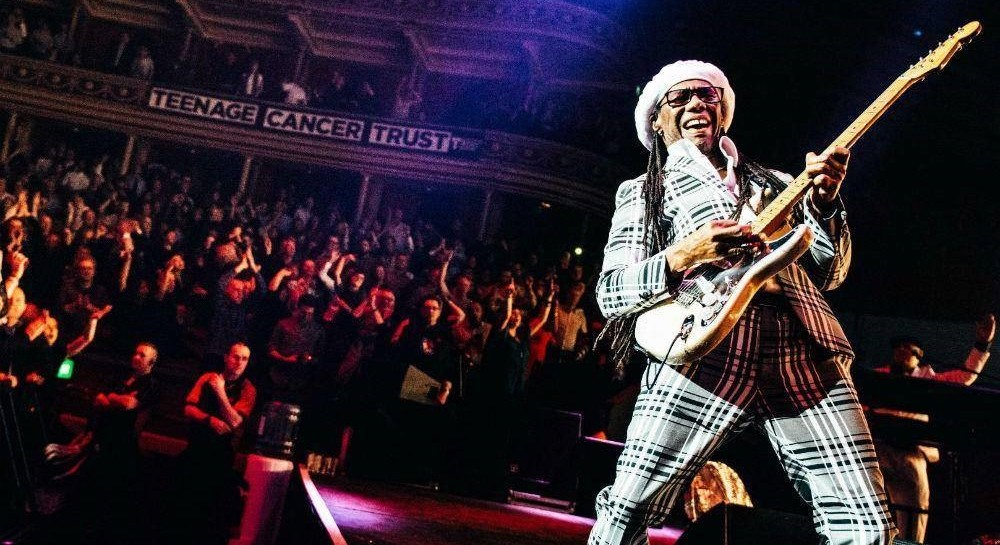 Nile Rogers performing at the Teenage Cancer Trust Concert