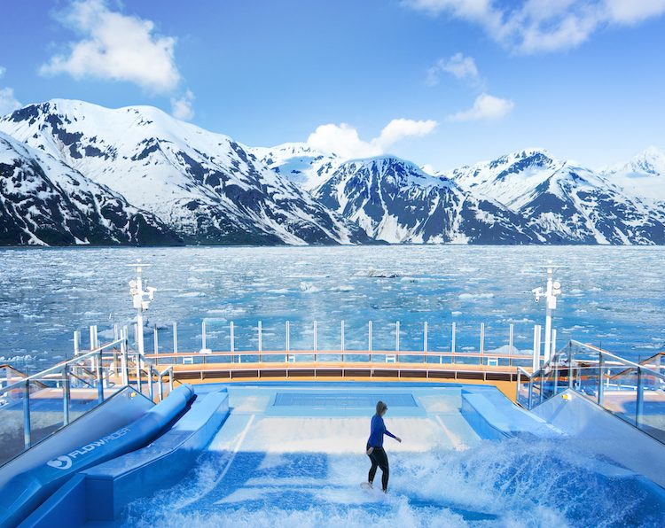 Rendering of Ovation of the Seas in Alaska