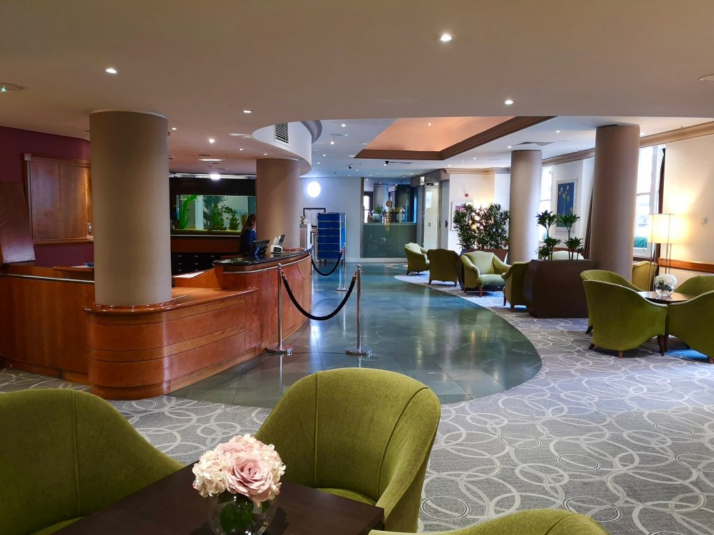The reception area of the Hilton Hotel Nottingham