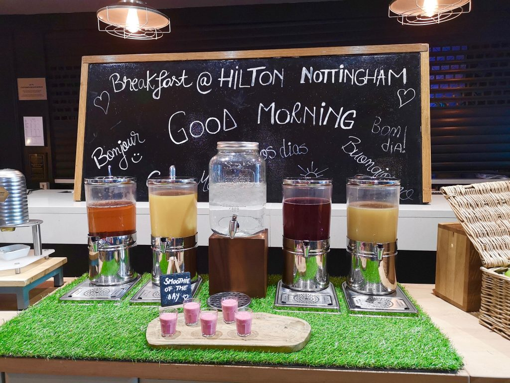 Breakfast at the Hilton Hotel Nottingham