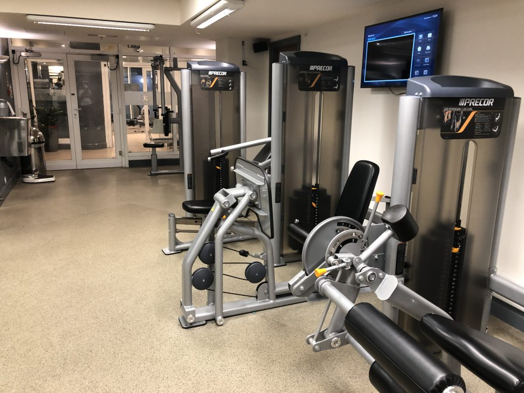 Weight Training Equipment at the Hilton Hotel Nottingham