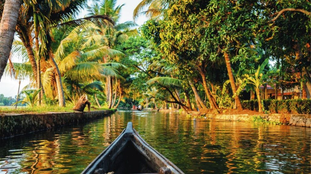 "Alleppey, near Cochin, also known as the ""Venice of the East"""