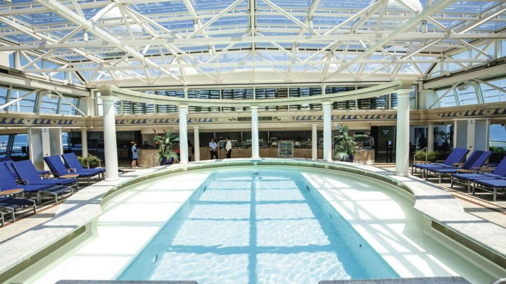 The indoor pool onboard Marella Discovery