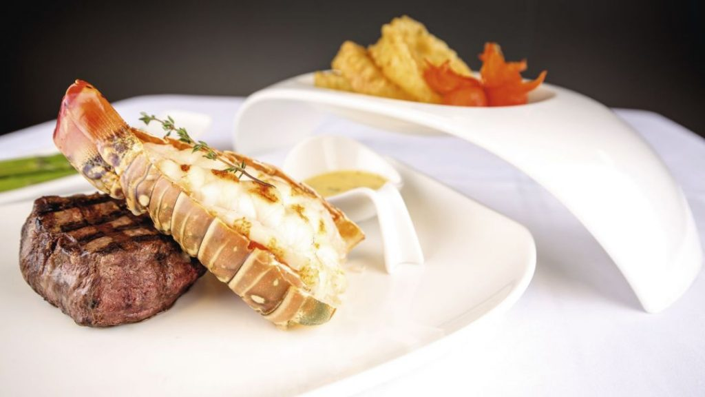 Steak and Lobster served onboard Marella Discovery