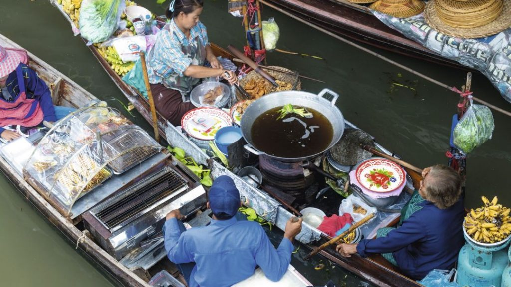 Street Food Boats in Bangkok