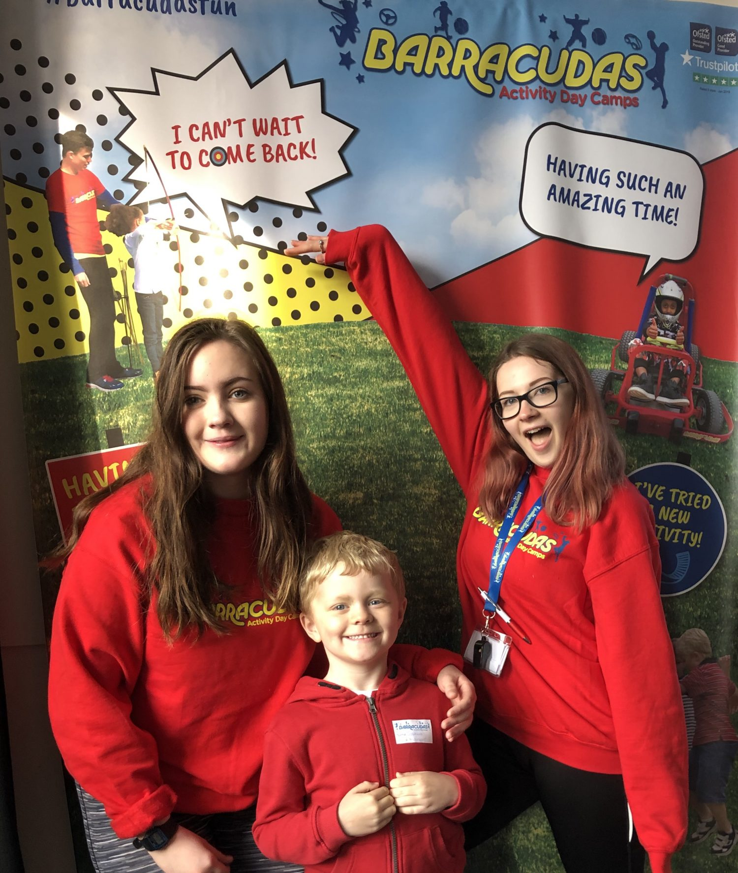 Emma, Georgie and Josh at Barracudas Activity Day Camps