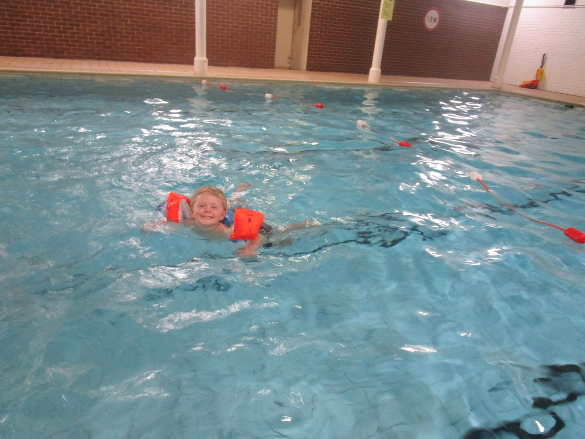 Joshua swimming at Barracudas Activity Day Camps