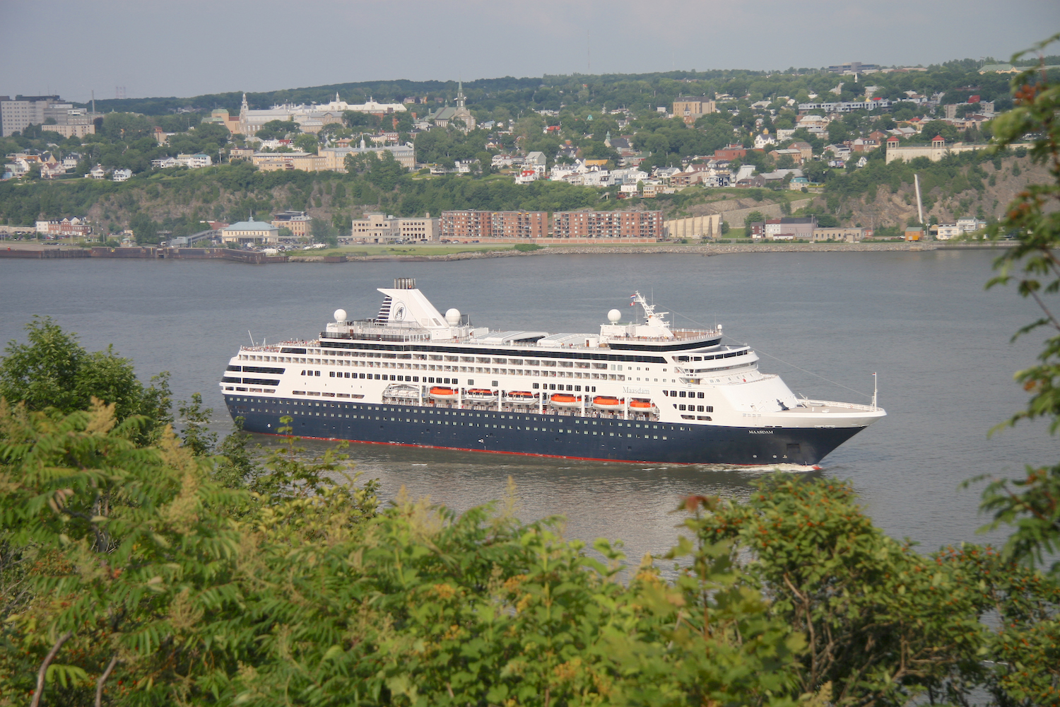 MS Maasdam in Quebec City, Canada